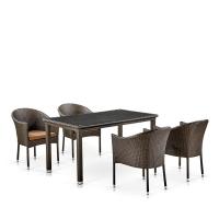Комплект плетеной мебели T256A/Y350A-W53 Brown  4Pcs