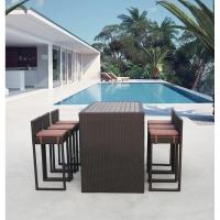 Барный комплект плетеной мебели T390AD/Y390A-W63_6Pcs Brown