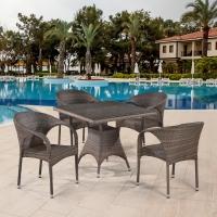 Комплект плетеной мебели T220BG/Y290BG-W1289 Pale 4Pcs