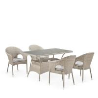 Комплект плетеной мебели T198C/Y79C-W85 Latte (4+1)
