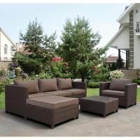 Комплект плетеной мебели YR821A Brown/Beige