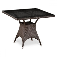 Плетеный стол T220BT-W51-90x90 Brown