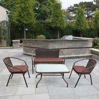 Плетеный комплект мебели  TLH-037/037D/40S Brown