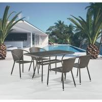 Комплект плетеной мебели T286A/Y137C-W53 Brown (4+1)