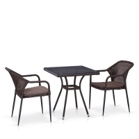 Комплект мебели из иск. ротанга T282BNT/Y35B-W2390 Brown (2+1)