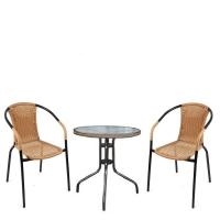 Комплект мебели  Асоль-1LB TLH-037С-TLH060RR-D60 Light Beige (2+1)