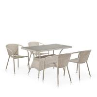 Комплект плетеной мебели T198D/Y137C-W85 Latte (4+1)
