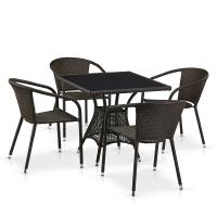 Комплект плетеной мебели T197BNS-W53/Y137C-W53 Brown 4Pcs