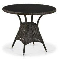 Плетеный стол T197ANS-W53-D90 Brown