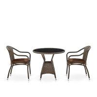 Комплект  плетеной мебели  T707ANS/Y480A-W53 Brown 2Pcs